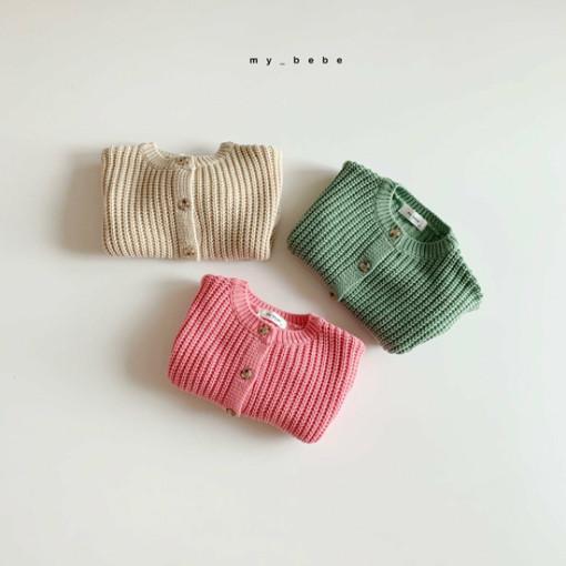 MY BEBE - BRAND - Korean Children Fashion - #Kfashion4kids - Hazzi Knit Cardigan