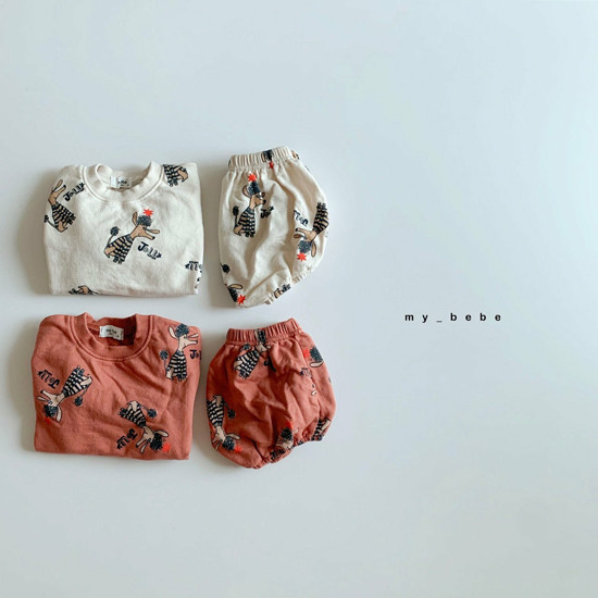 MY BEBE - Korean Children Fashion - #Kfashion4kids - Puddle Top Blommer Set