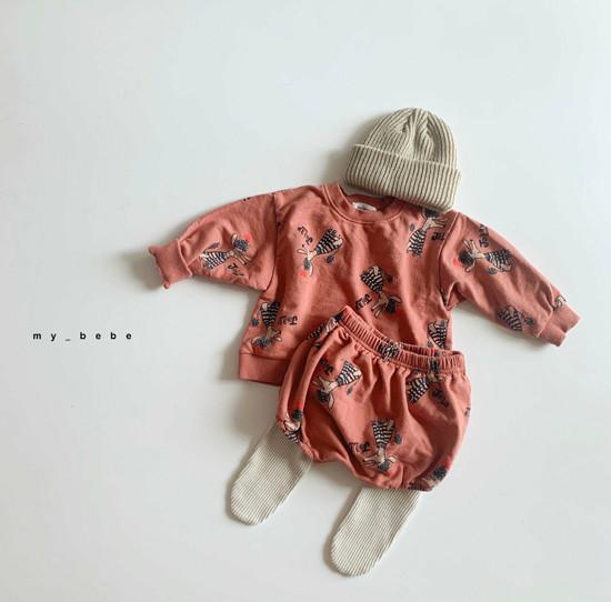 MY BEBE - Korean Children Fashion - #Kfashion4kids - Puddle Top Blommer Set - 10