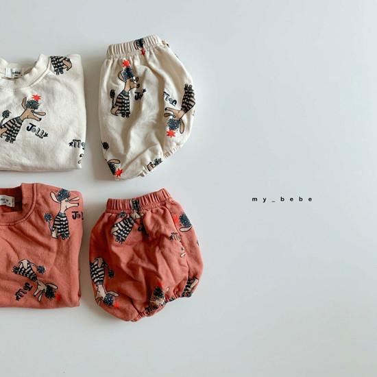 MY BEBE - Korean Children Fashion - #Kfashion4kids - Puddle Top Blommer Set - 2