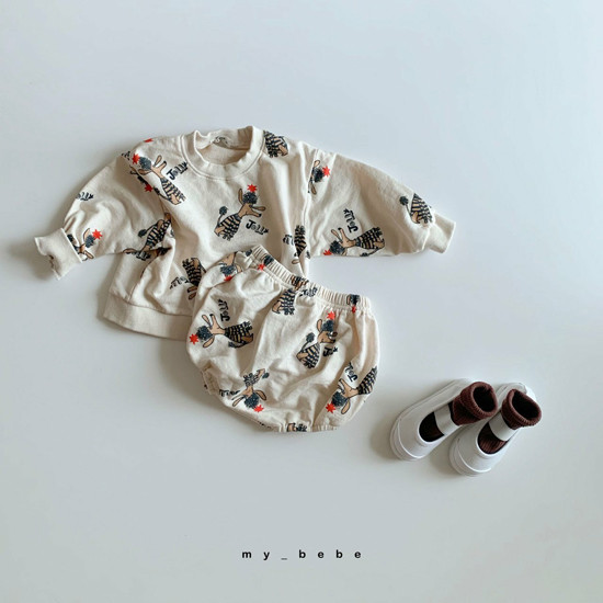 MY BEBE - Korean Children Fashion - #Kfashion4kids - Puddle Top Blommer Set - 3