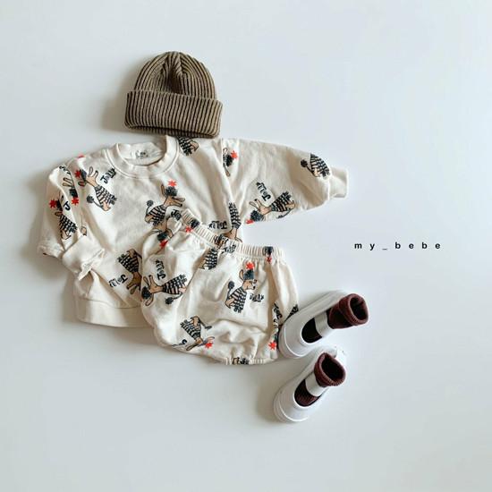 MY BEBE - Korean Children Fashion - #Kfashion4kids - Puddle Top Blommer Set - 5