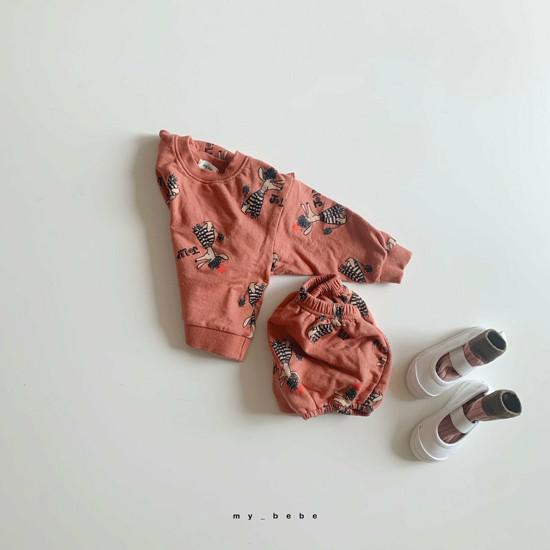 MY BEBE - Korean Children Fashion - #Kfashion4kids - Puddle Top Blommer Set - 9