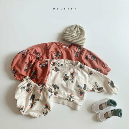 MY BEBE - BRAND - Korean Children Fashion - #Kfashion4kids - Puddle Top Blommer Set