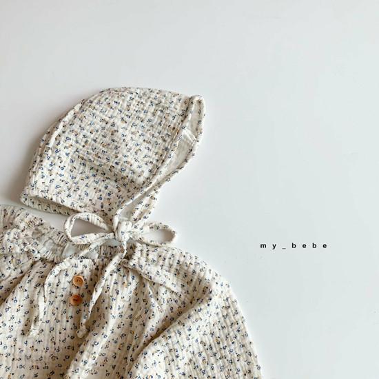 MY BEBE - Korean Children Fashion - #Kfashion4kids - Shirring Bodysuit with Hat - 10