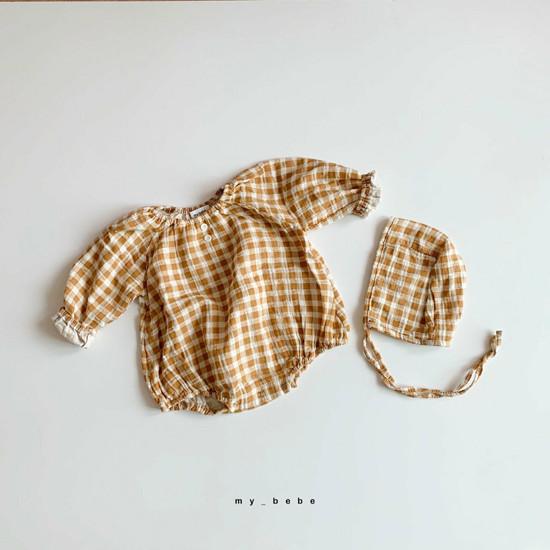 MY BEBE - Korean Children Fashion - #Kfashion4kids - Shirring Bodysuit with Hat - 2
