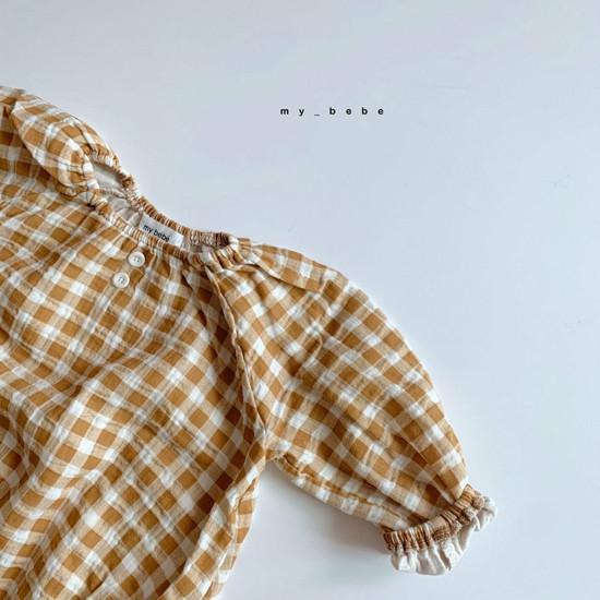 MY BEBE - Korean Children Fashion - #Kfashion4kids - Shirring Bodysuit with Hat - 3