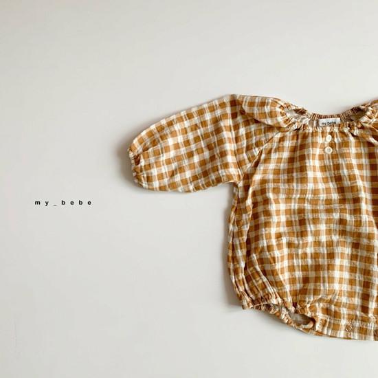 MY BEBE - Korean Children Fashion - #Kfashion4kids - Shirring Bodysuit with Hat - 4