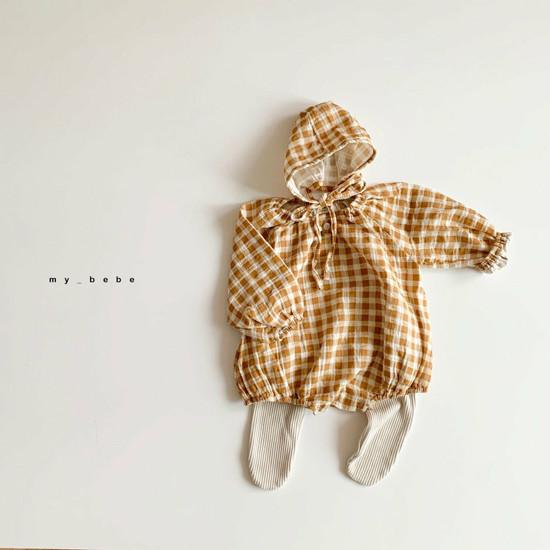 MY BEBE - Korean Children Fashion - #Kfashion4kids - Shirring Bodysuit with Hat - 5