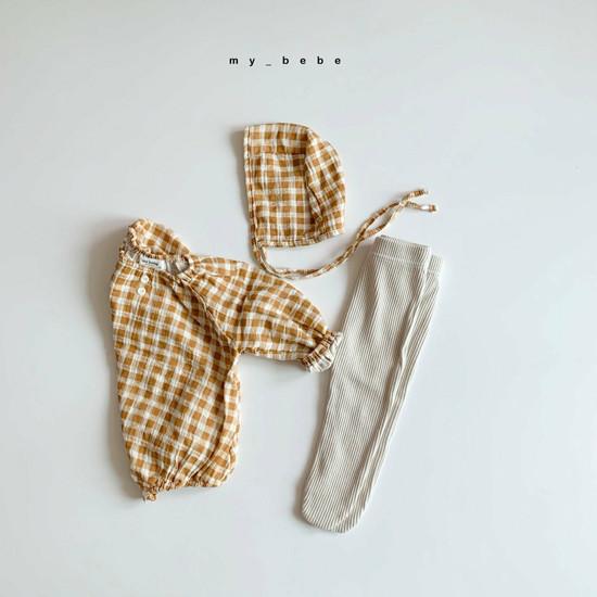MY BEBE - Korean Children Fashion - #Kfashion4kids - Shirring Bodysuit with Hat - 6