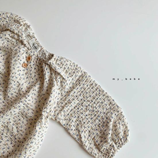 MY BEBE - Korean Children Fashion - #Kfashion4kids - Shirring Bodysuit with Hat - 8