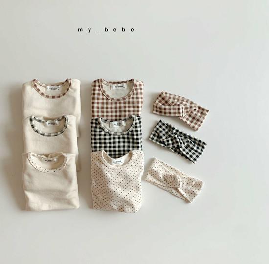 MY BEBE - Korean Children Fashion - #Kfashion4kids - Two Rompers Set with Hairband
