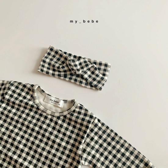 MY BEBE - Korean Children Fashion - #Kfashion4kids - Two Rompers Set with Hairband - 12
