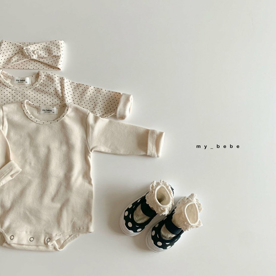 MY BEBE - Korean Children Fashion - #Kfashion4kids - Two Rompers Set with Hairband - 7