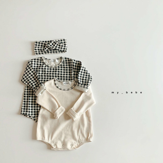 MY BEBE - Korean Children Fashion - #Kfashion4kids - Two Rompers Set with Hairband - 9