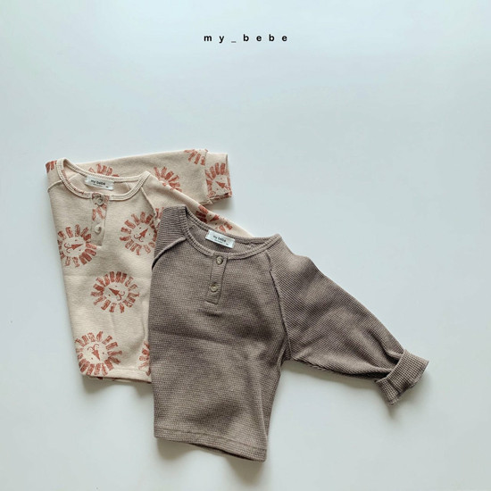 MY BEBE - Korean Children Fashion - #Kfashion4kids - Waffle Tee - 12