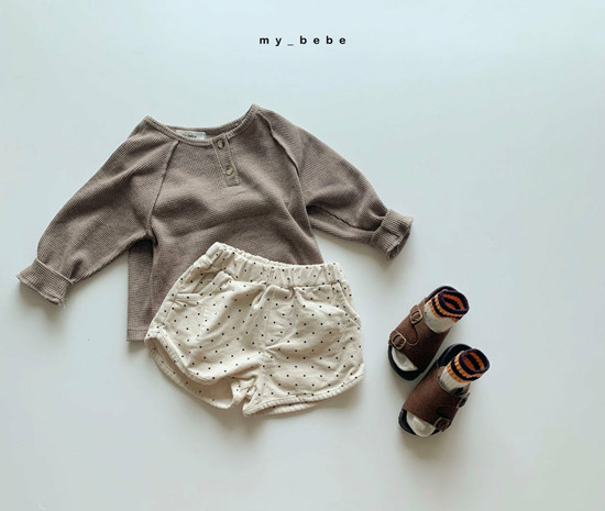 MY BEBE - Korean Children Fashion - #Kfashion4kids - Waffle Tee - 4