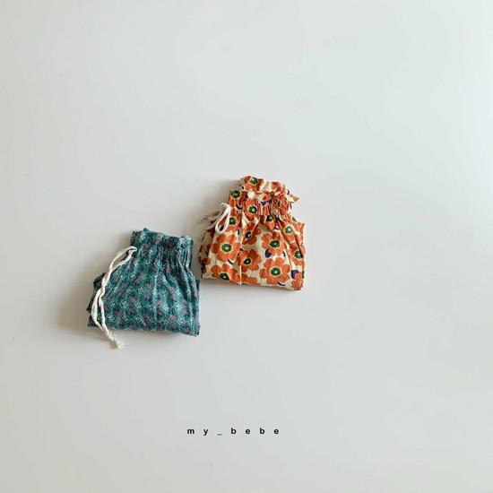 MY BEBE - Korean Children Fashion - #Kfashion4kids - Flower Print Pants