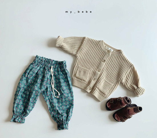 MY BEBE - Korean Children Fashion - #Kfashion4kids - Flower Print Pants - 10