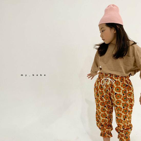 MY BEBE - Korean Children Fashion - #Kfashion4kids - Flower Print Pants - 11
