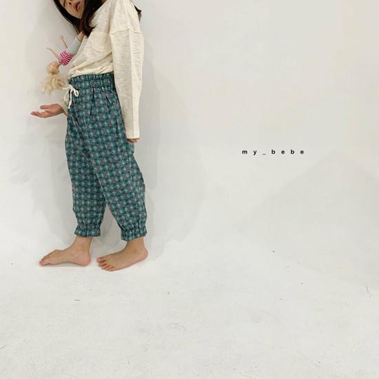 MY BEBE - Korean Children Fashion - #Kfashion4kids - Flower Print Pants - 12