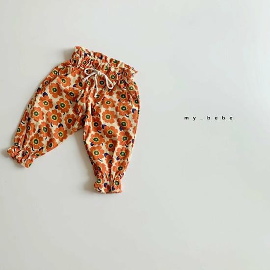 MY BEBE - Korean Children Fashion - #Kfashion4kids - Flower Print Pants - 3