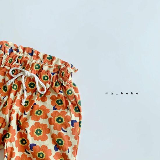 MY BEBE - Korean Children Fashion - #Kfashion4kids - Flower Print Pants - 4