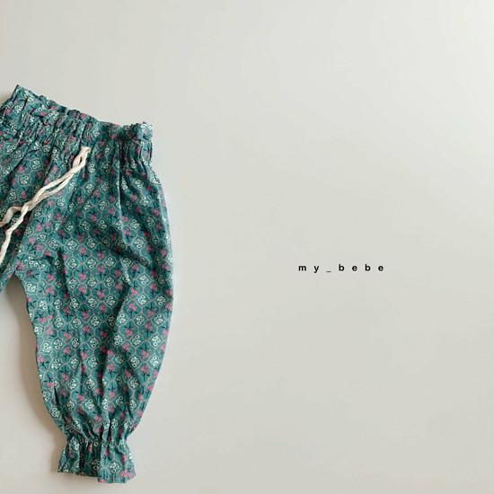 MY BEBE - Korean Children Fashion - #Kfashion4kids - Flower Print Pants - 6