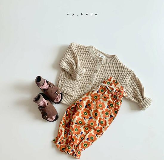MY BEBE - Korean Children Fashion - #Kfashion4kids - Flower Print Pants - 7