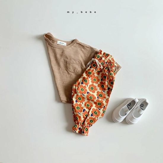 MY BEBE - Korean Children Fashion - #Kfashion4kids - Flower Print Pants - 8
