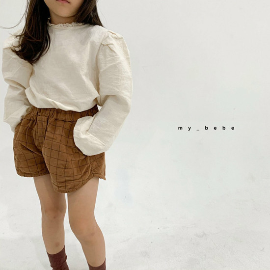 MY BEBE - Korean Children Fashion - #Kfashion4kids - Corduroy Short Pants - 12