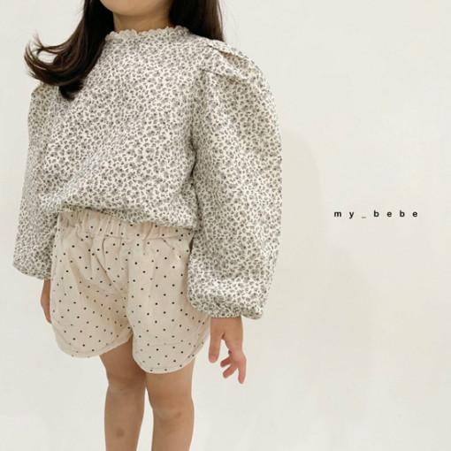 MY BEBE - BRAND - Korean Children Fashion - #Kfashion4kids - Puff Blouse