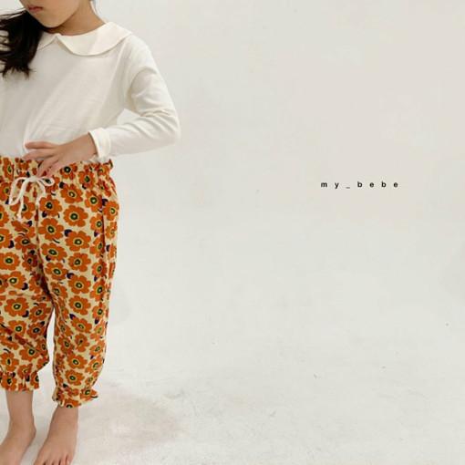 MY BEBE - BRAND - Korean Children Fashion - #Kfashion4kids - Collar Tee