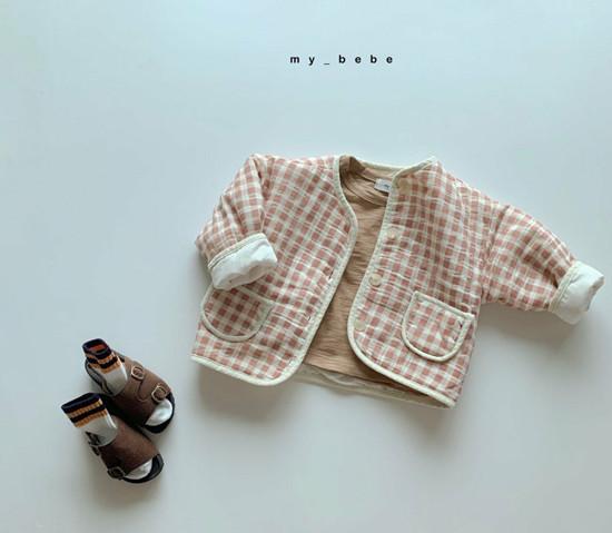 MY BEBE - Korean Children Fashion - #Kfashion4kids - Bonding Piping Jacket - 9