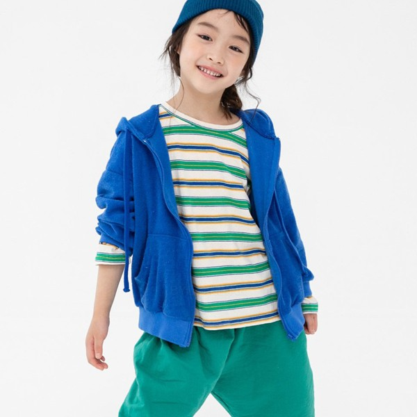 NAVI - BRAND - Korean Children Fashion - #Kfashion4kids - Terry Hood Zip-up Jacket