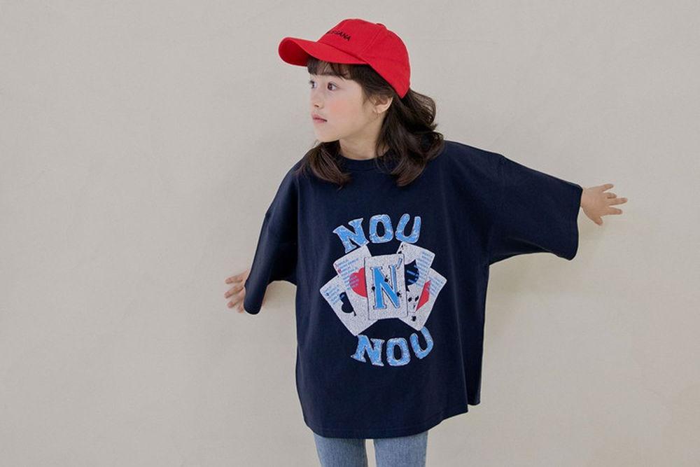 NOUNOU - BRAND - Korean Children Fashion - #Kfashion4kids - Nounou Card Tee