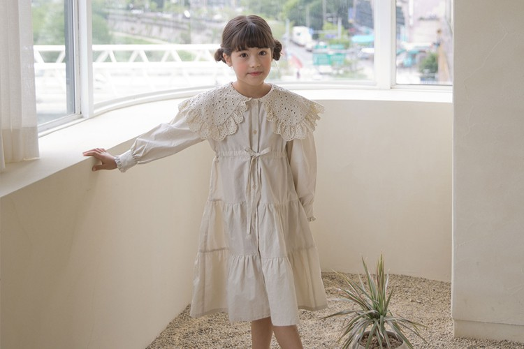 NOUNOU - BRAND - Korean Children Fashion - #Kfashion4kids - Lace Cape One-piece