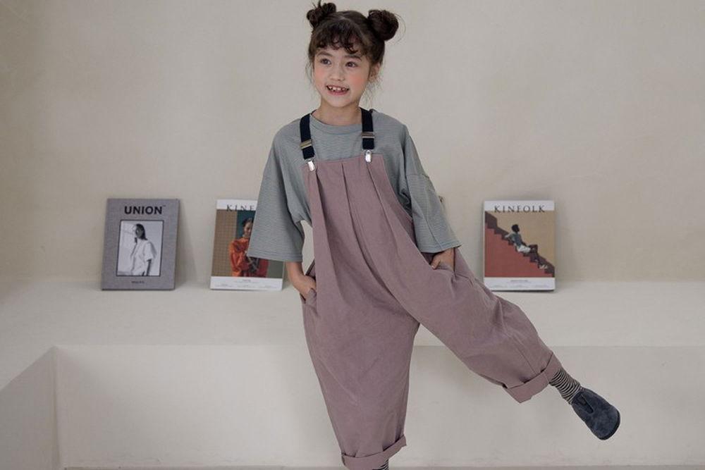 NOUNOU - BRAND - Korean Children Fashion - #Kfashion4kids - Suspender Pants