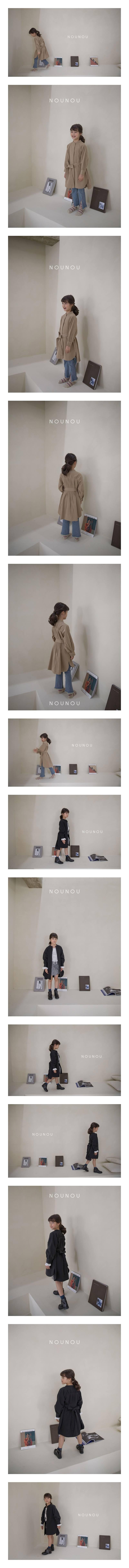 NOUNOU - Korean Children Fashion - #Kfashion4kids - Trench One-piece
