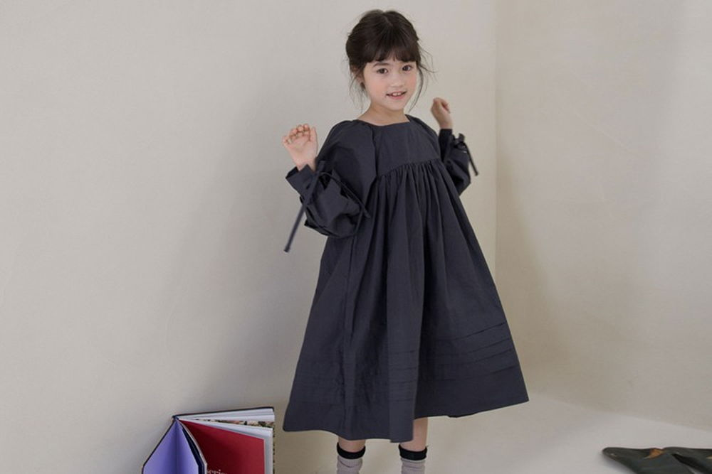 NOUNOU - BRAND - Korean Children Fashion - #Kfashion4kids - Pleats One-piece