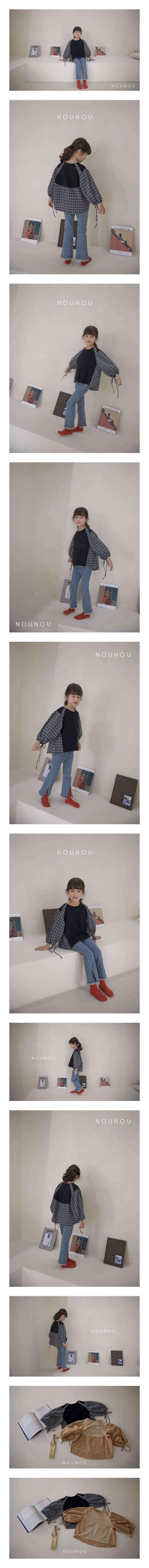 NOUNOU - Korean Children Fashion - #Kfashion4kids - Sleeve String Blouse
