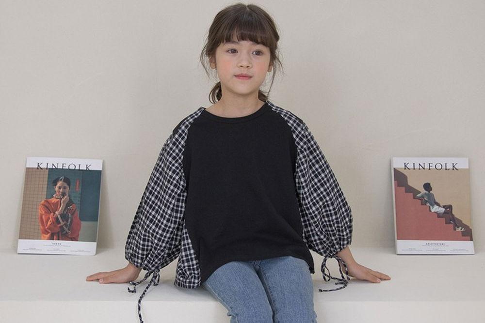 NOUNOU - BRAND - Korean Children Fashion - #Kfashion4kids - Sleeve String Blouse