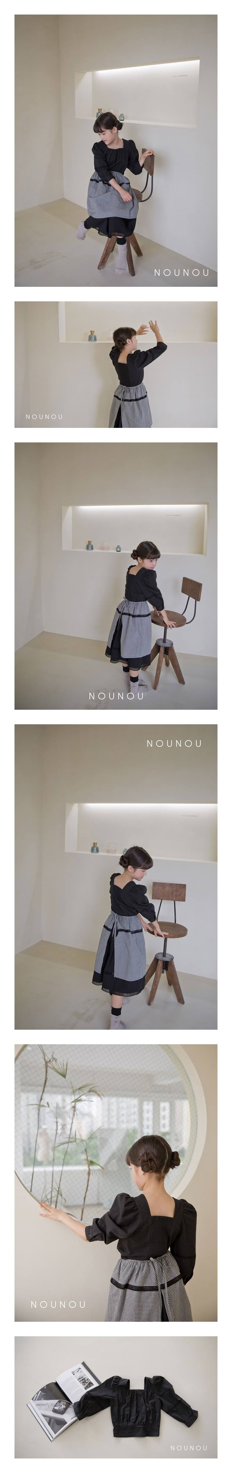 NOUNOU - Korean Children Fashion - #Kfashion4kids - Square Blouse