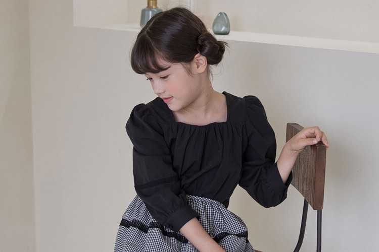 NOUNOU - BRAND - Korean Children Fashion - #Kfashion4kids - Square Blouse