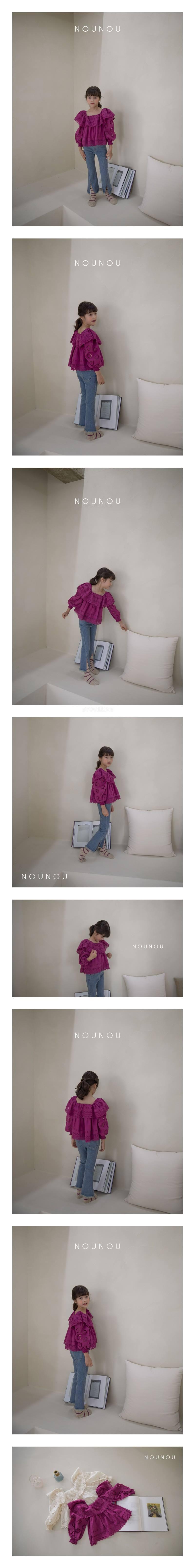 NOUNOU - Korean Children Fashion - #Kfashion4kids - Punching Blouse