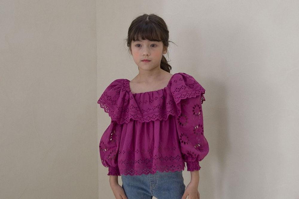 NOUNOU - BRAND - Korean Children Fashion - #Kfashion4kids - Punching Blouse