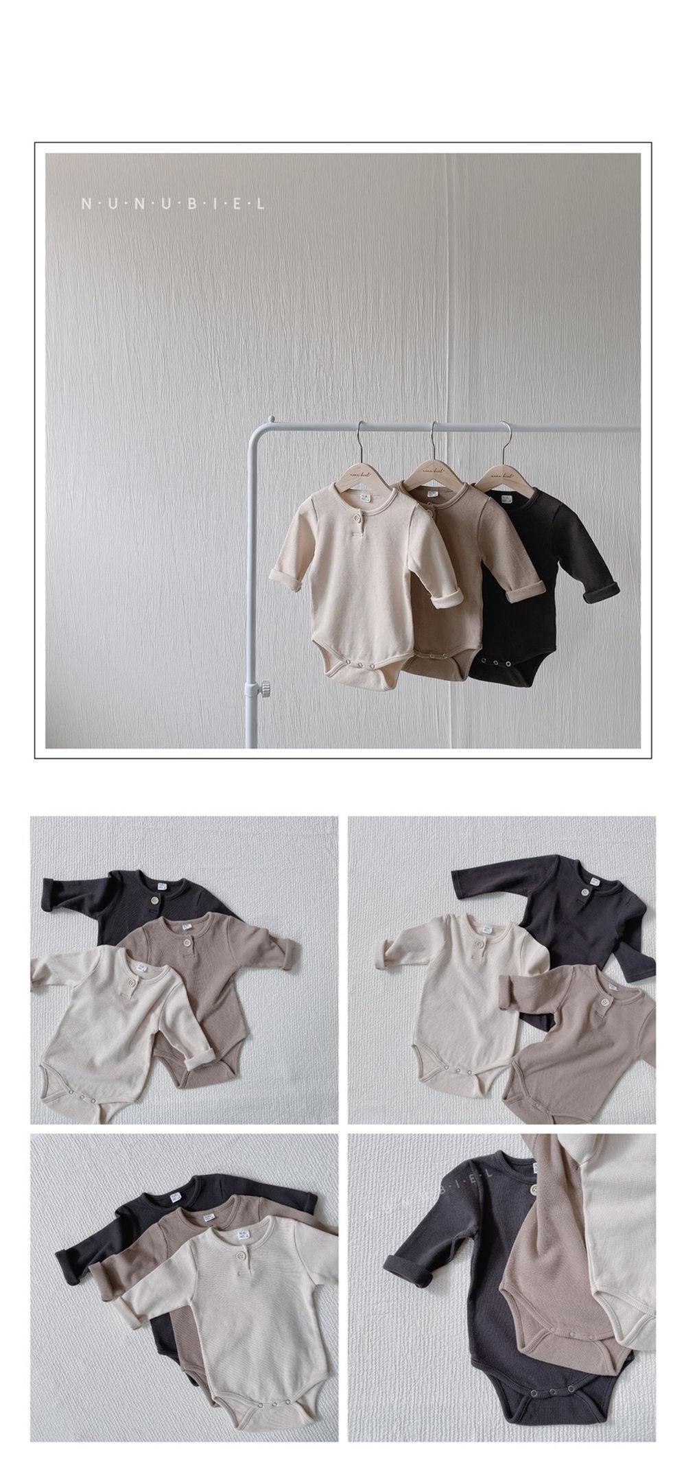 NUNUBIEL - Korean Children Fashion - #Kfashion4kids - Waffle Bodysuit