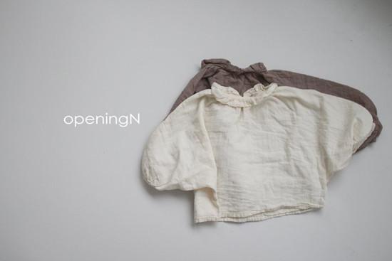 OPENING & - Korean Children Fashion - #Kfashion4kids - Milk Shirring Blouse