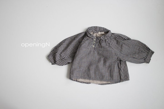 OPENING & - Korean Children Fashion - #Kfashion4kids - Ever Check Blouse - 2