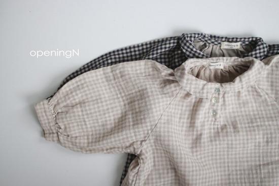 OPENING & - Korean Children Fashion - #Kfashion4kids - Ever Check Blouse - 3